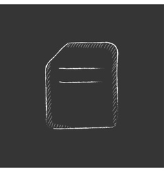 Document Drawn in chalk icon vector image