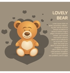 Cute and lovely bear vector