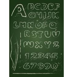 ABC blackboard 2 380 vector image
