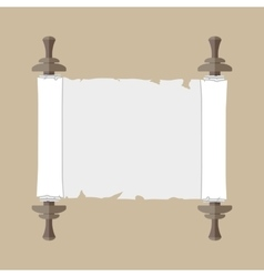 Ancient scroll with handles vector image