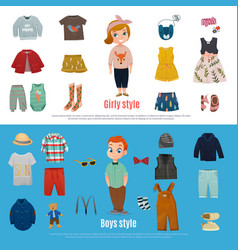 baby fashion banner set vector image vector image