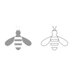 bee it is black icon vector image
