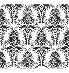 Black and white vintage wallpaper vector