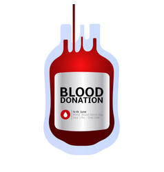 blood donation vector image vector image