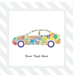 Card of the Car Gears vector image