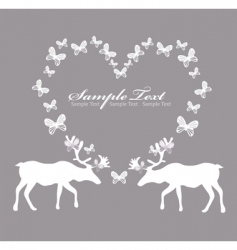 card with reindeer in love vector image vector image