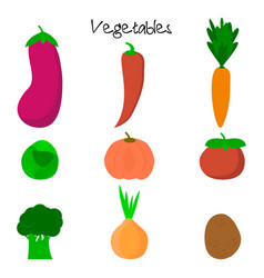 Cartoon cute vegetables vector