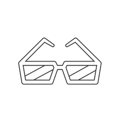 Cinema glasses line icon vector