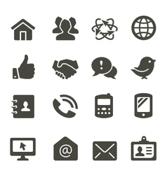 Communication icon set 2 vector image vector image