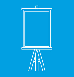 Easel icon outline style vector