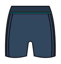 female gym short wear icon vector image
