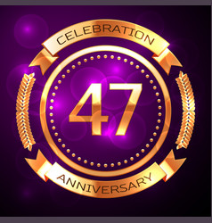 Forty seven years anniversary celebration with vector