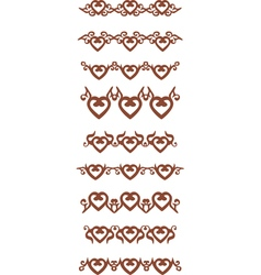 Heart border vector