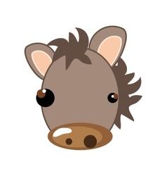 Horse animal cartoon vector