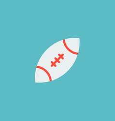 icon flat rugby element of vector image