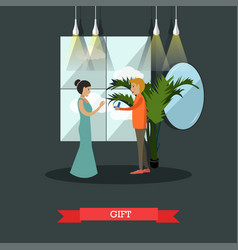 Jewelry gift concept in flat vector