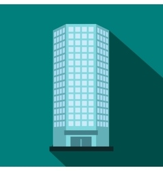 Modern office building icon flat style vector