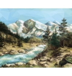 Mountain Landscape Low Poly vector image vector image
