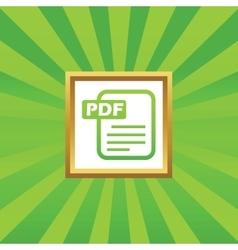 Pdf file picture icon vector