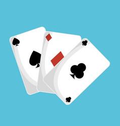Poker cards casino icon vector