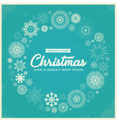 retro merry christmas greetings vector image vector image