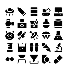 Science icons 6 vector