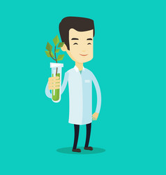 scientist with test tube vector image