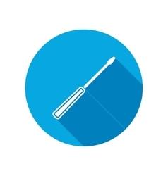Screwdriver icon Repair fix tool symbol vector image vector image