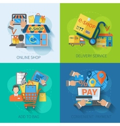 Shopping e-commerce flat vector