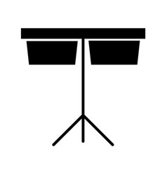 timpani music instrument icon vector image