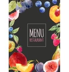 Watercolor menu template vector