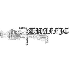 Where to get the traffic you want text word cloud vector