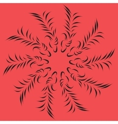 black leaves on a red background vector image