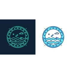 Icon of a porthole linear style symbol vector