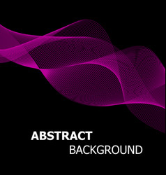 Abstract pink line wave background vector