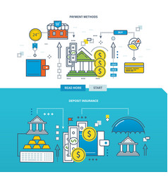 Concept of payment methods and deposit insurance vector