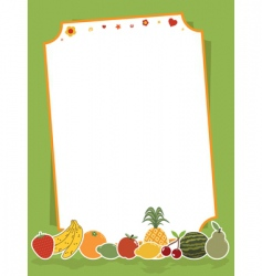 Fruit sign vector