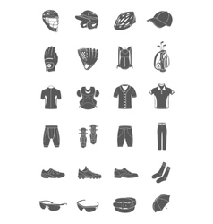 Set of icons sports accessories and clothes vector