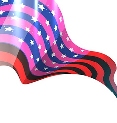 Shiny american flag design vector