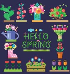 Spring mood vector