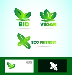 Bio eco friendly vegan logo vector