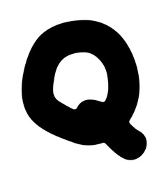 Q capital silhouette vector