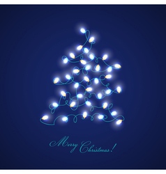 Christmas Tree Lights - for design and scrapbook vector image