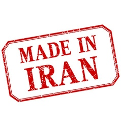 Iran - made in red vintage isolated label vector