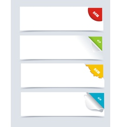 Papers with different corners vector