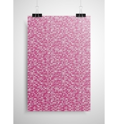 Pink sequin poster on the wall eps 10 vector