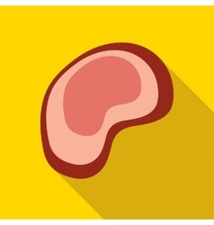 Piece of meat icon flat style vector