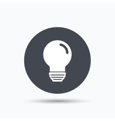 Light bulb icon lamp illumination sign vector