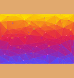 abstract background consisting of triangles vector image