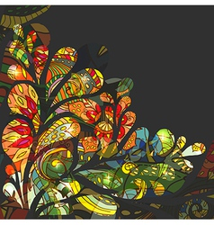 Abstract colorful drop background with Floral vector image vector image